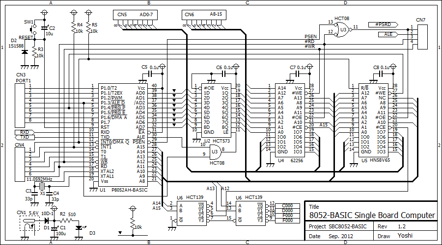 8052 BASIC SBC Schematic
